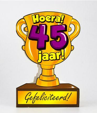 Trofee kaart - 45 jaar