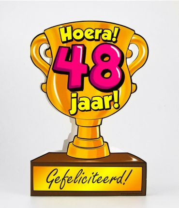Trofee kaart - 48 jaar