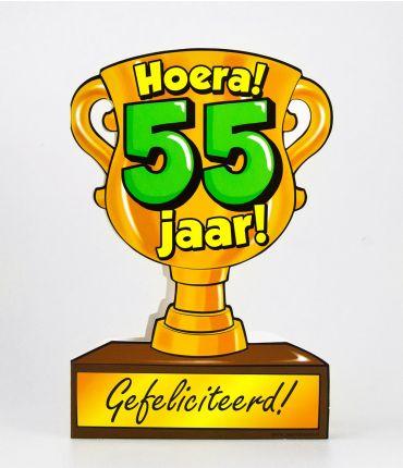 Trofee kaart - 55 jaar