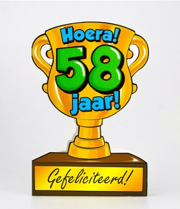 Trofee kaart - 58 jaar