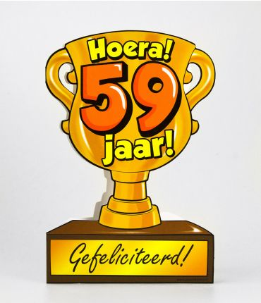 Trofee kaart - 59 jaar
