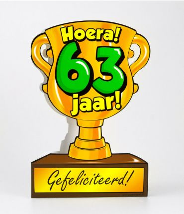 Trofee kaart - 63 jaar