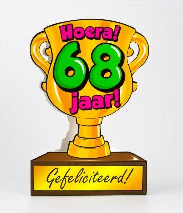 Trofee kaart - 68 jaar