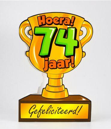 Trofee kaart - 74 jaar