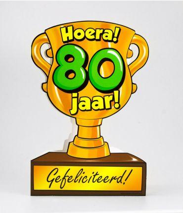 Trofee kaart - 80 jaar