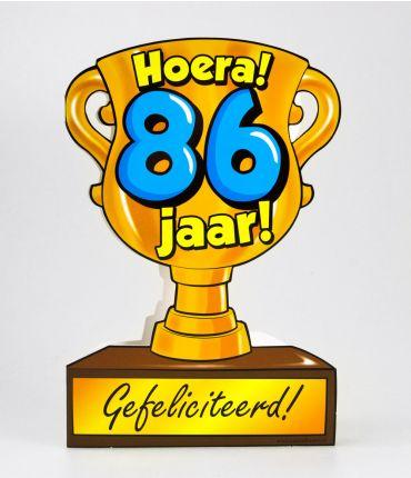 Trofee kaart - 86 jaar