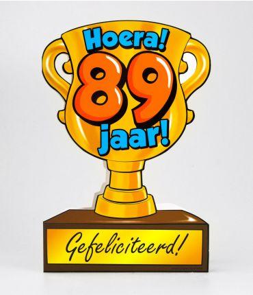 Trofee kaart - 89 jaar