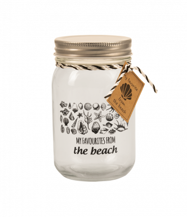 Black & White schelpenpot - My favourites from the beach