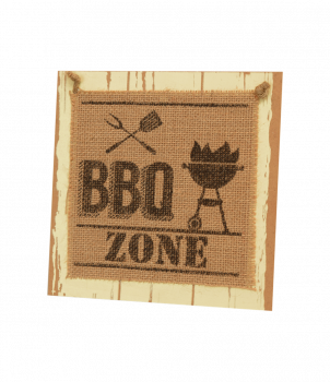 Wooden sign - BBQ Zone