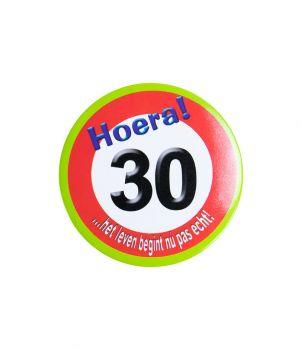 Button klein - 30 jr verkeersbord