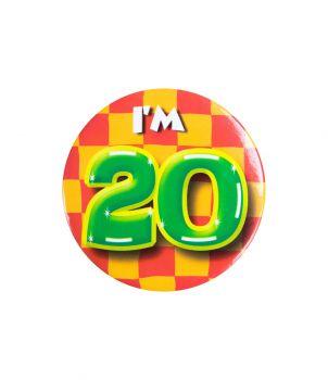 Button klein - i'm 20