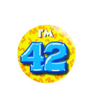 Button klein - i'm 42