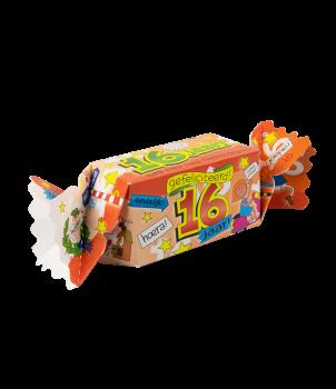 Kado/Snoepverpakking Fun - 16 jaar