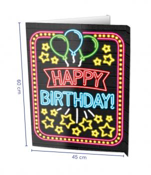 Window signs - Happy birthday