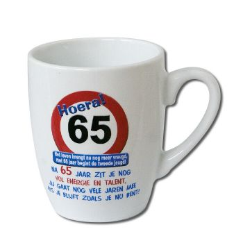 Verkeersbord mok - 65 jaar