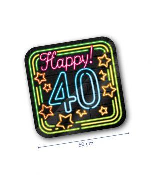Neon decoration signs - 40 jaar