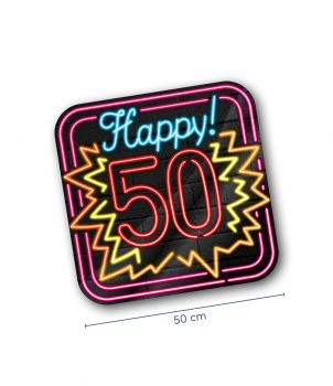 Neon decoration signs - 50 jaar