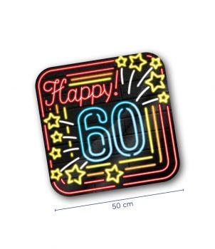 Neon decoration signs - 60 jaar
