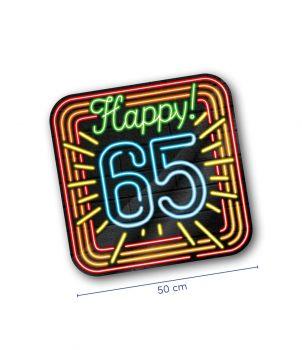 Neon decoration signs - 65 jaar