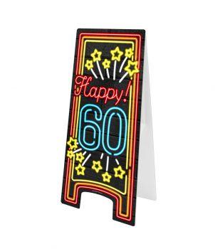 Neon Warning Sign - 60 jaar