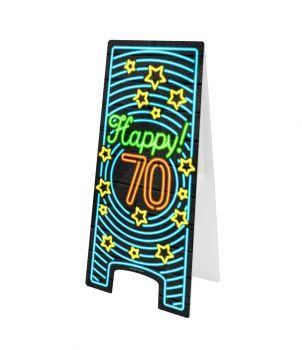 Neon Warning Sign - 70 jaar