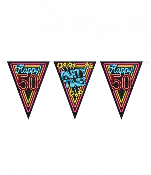 Neon party flag - 50