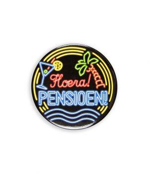 Neon button - Pensioen