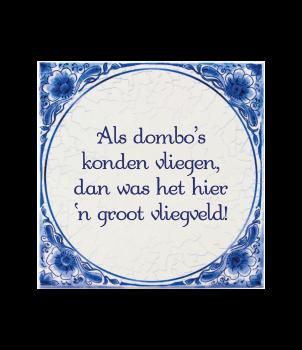 Tegels delfts blauw - Dombo's