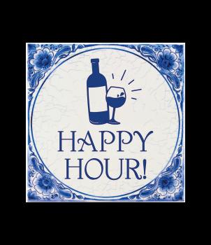 Tegels delfts blauw - Happy hour!