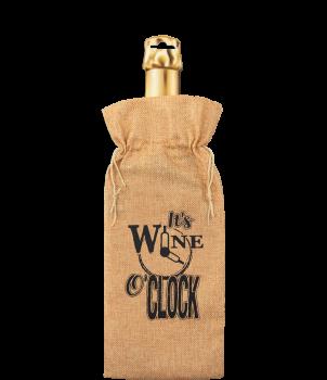 Bottle gift bag - It's wine o'clock