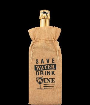 Bottle gift bag - Save water