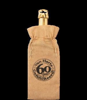 Bottle gift bag - 60 jaar