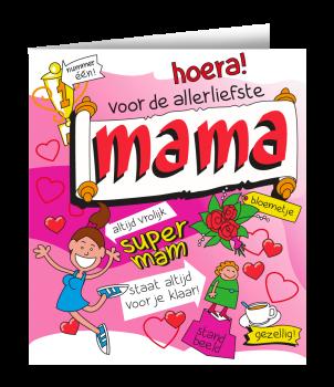 Wenskaarten - Mama cartoon