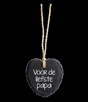Natuurstenen Hart - Liefste papa