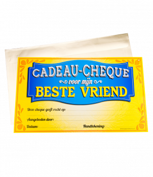 Gift Cheque - Vriend