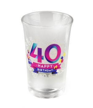 Happy shot glasses - 40 jaar