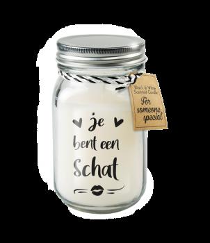 Black & White scented candles - Je bent een schat