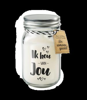 Black & White scented candles - Ik hou van jou