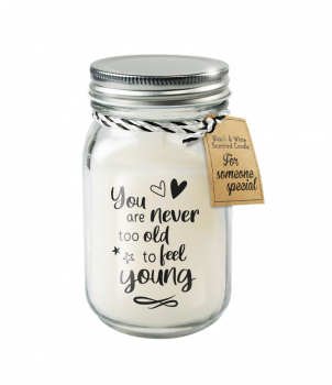 Black & White scented candles - Never too old