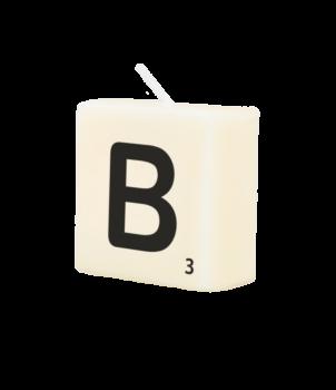 Letter Kaarsje - B
