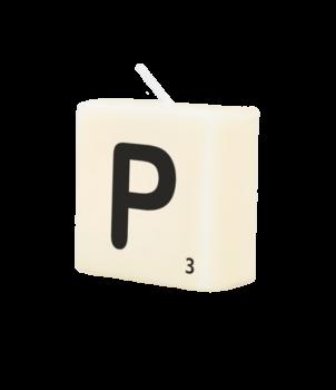Letter Kaarsje - P