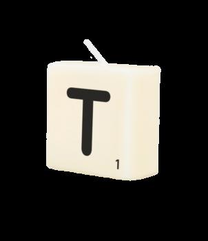 Letter Kaarsje - T