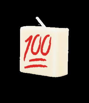 Letter Kaarsje - 100