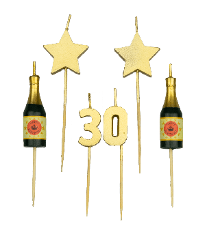 Party cake candles - 30 years