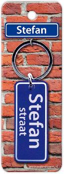 Straatnaam sleutelhanger - Stefan