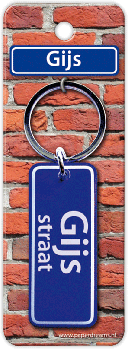 Straatnaam sleutelhanger - Gijs
