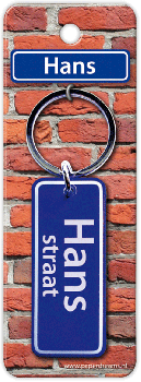 Straatnaam sleutelhanger - Hans