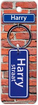 Straatnaam sleutelhanger - Harry