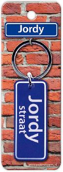 Straatnaam sleutelhanger - Jordy