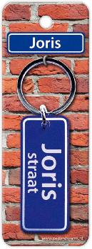 Straatnaam sleutelhanger - Joris